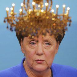 Angela Merkel en un debate televisado contra Martin Schulz