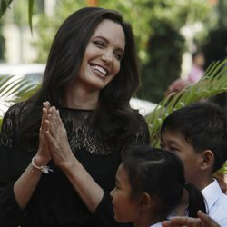 Angelina Jolie en una conferencia