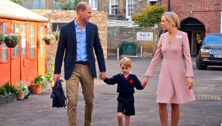 El Príncipe Jorge en su primer día de colegio en el Thomas's Battersea