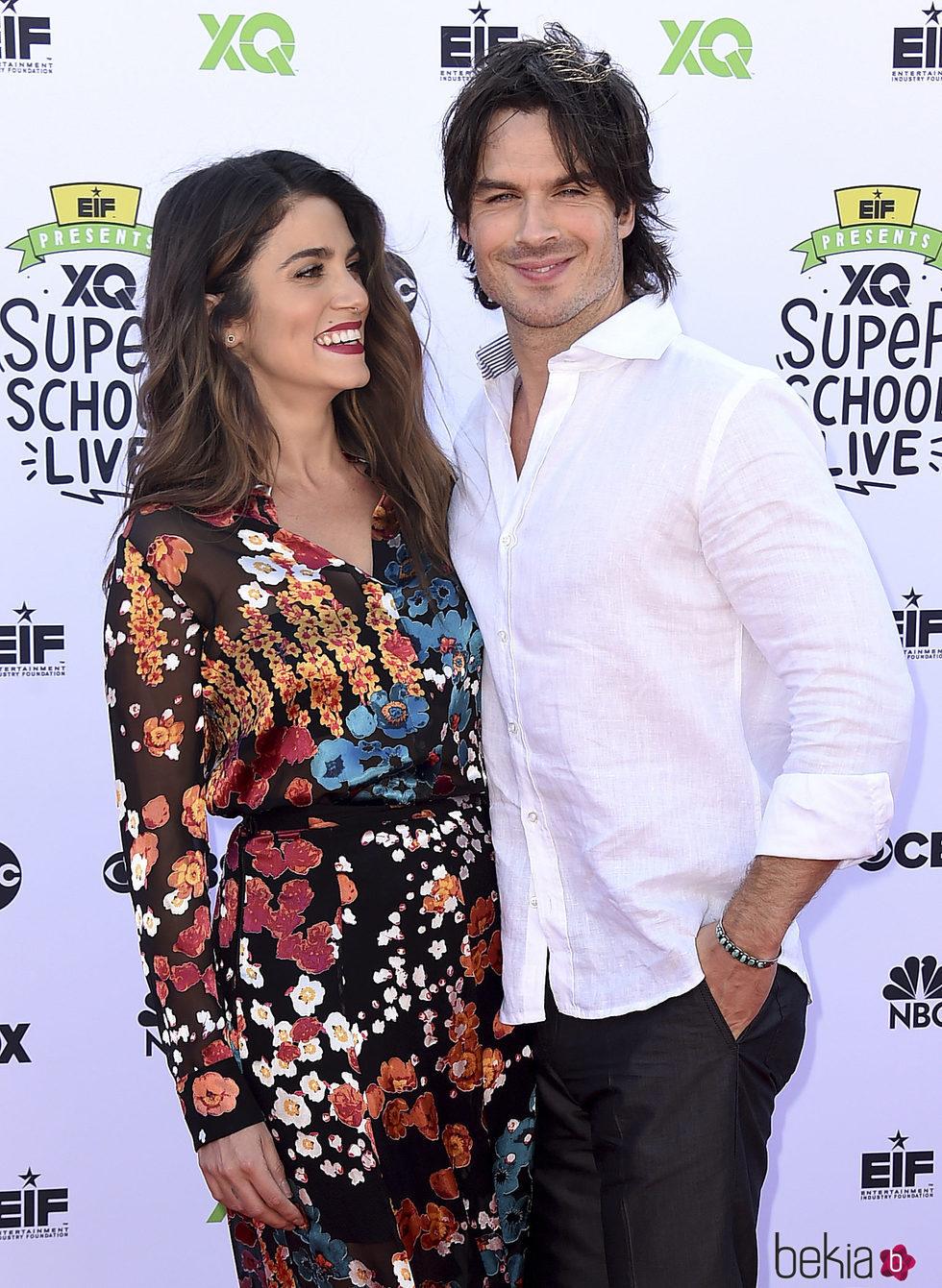 Ian Somerhalder y Nikki Reed en el XQ Super School Live en Santa Mónica