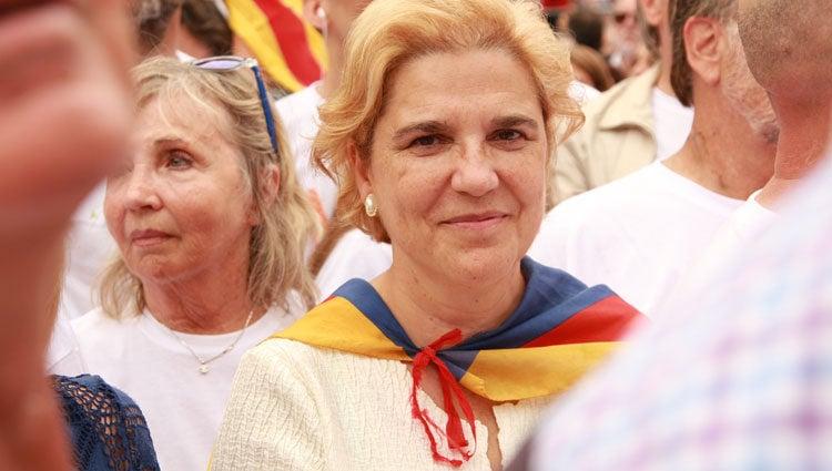 Pilar Rahaola en la Diada de 2015