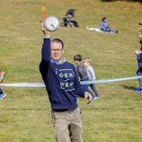 El Príncipe Daniel de Suecia en el Día del Deporte