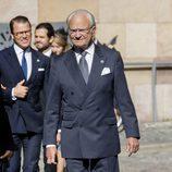 Carlos Gustavo de Suecia en la apertura del Parlamento 2017