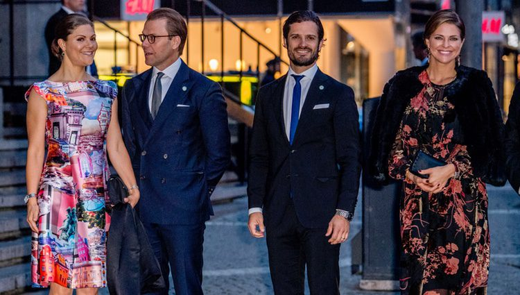 Victoria, Daniel, Carlos Felipe y Magdalena de Suecia en el concierto por la apertura del Parlaamento 2017