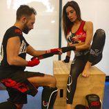 Pilar Rubio preparándose para boxear
