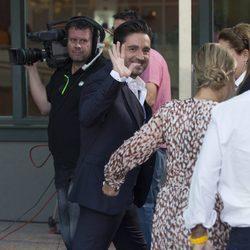 David Bustamante muy sonriente en la presentación de la nueva temporada de Telemadrid