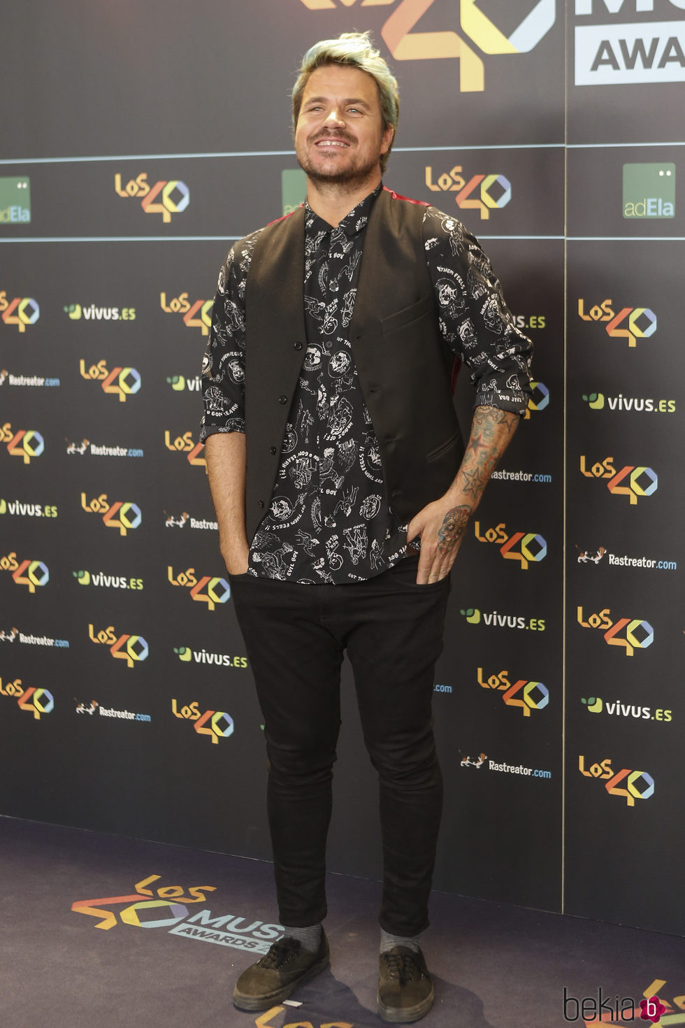 Dani Martín en la cena de los nominados a los Premios 40 Pricipales 2017