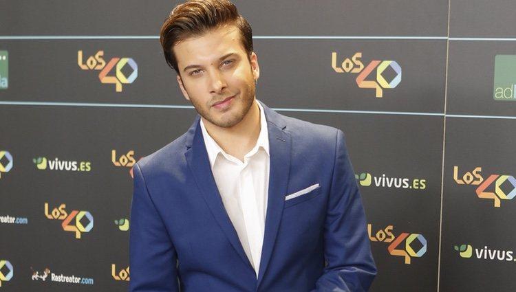 Blas Cantó en la cena de los nominados a los Premios 40 Pricipales 2017