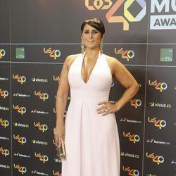 Rosa López en la cena de los nominados a los Premios 40 Pricipales 2017