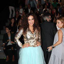 Cristina Rodríguez en el front row desfile de Francis Montesinos en Madrid Fashion Week primavera/verano 2018