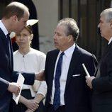 El Príncipe Guillermo y el Duque de York con David Armstrong Jones