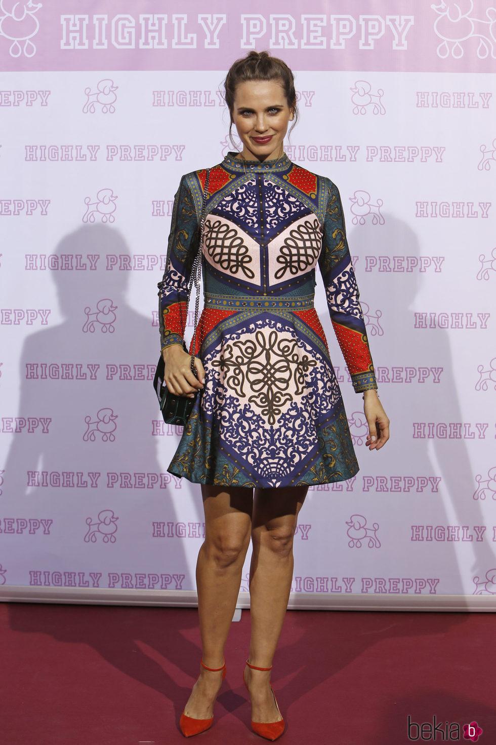 Vanesa Romero en el desfile de Highly Preppy en la Madrid Fashion Week 2017