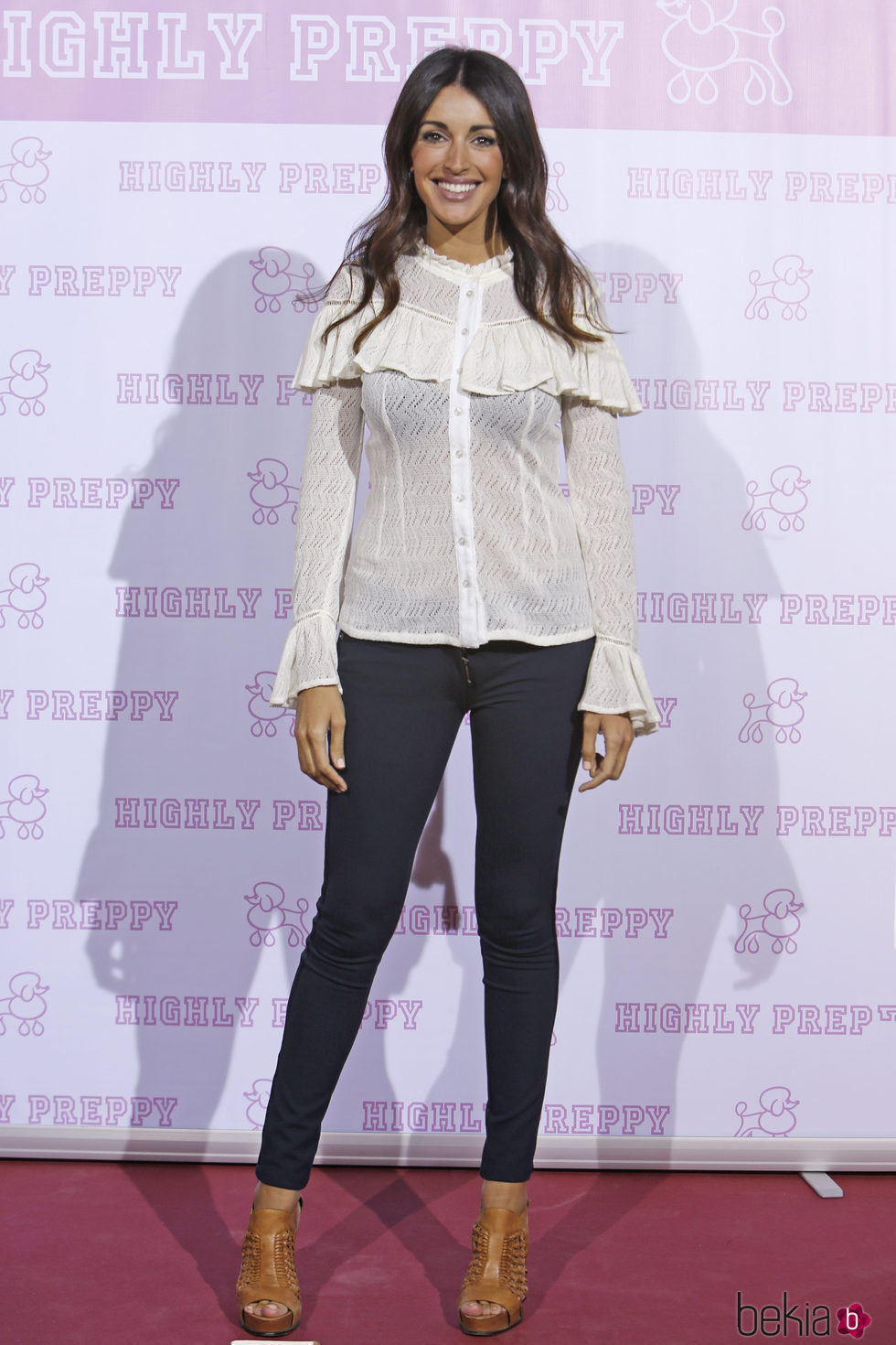 Noelia López en el desfile de Highly Preppy en la Madrid Fashion Week 2017