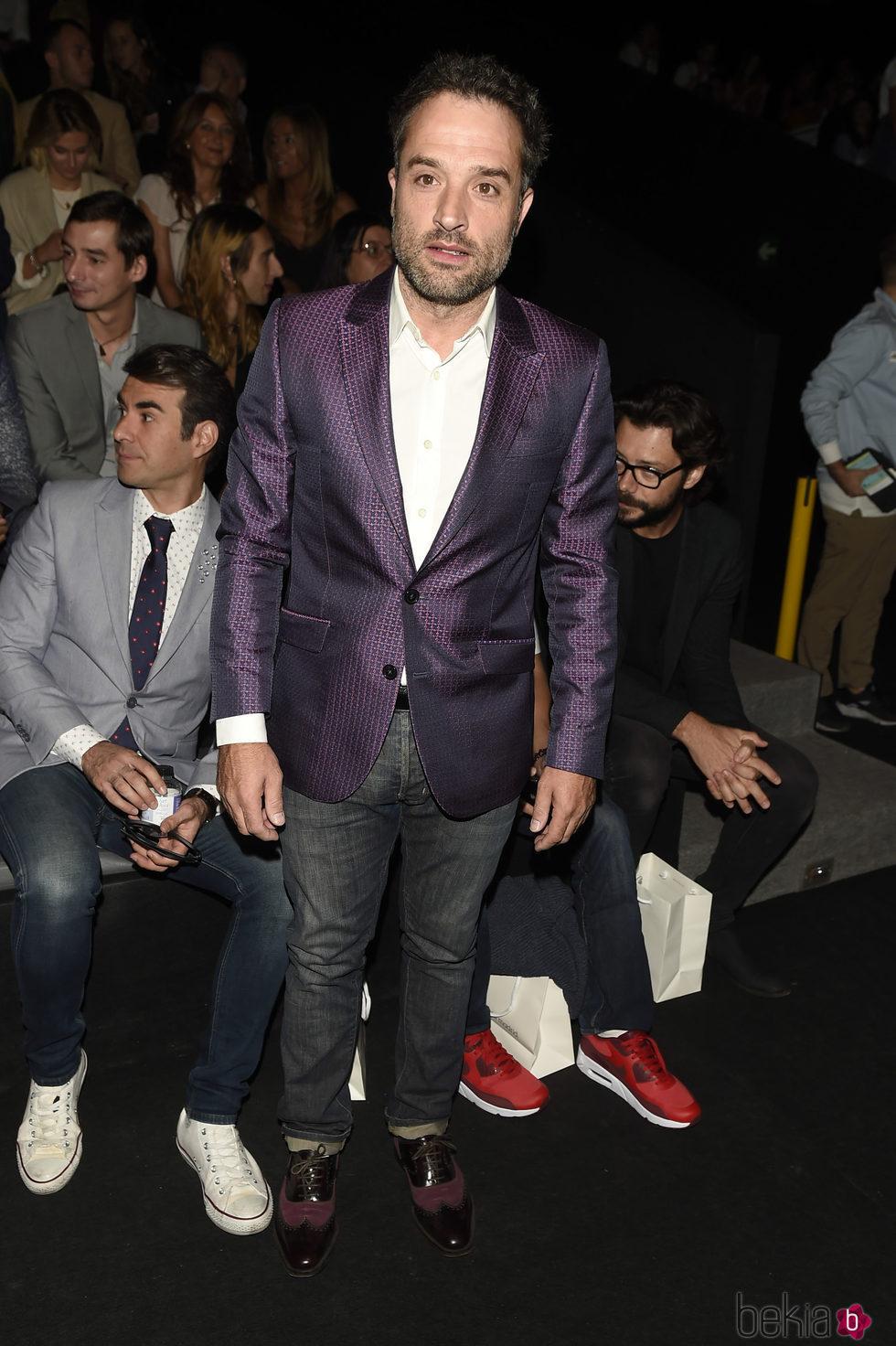 Daniel Guzmán en el desfile de García Madrid en la Madrid Fashion Week 2017