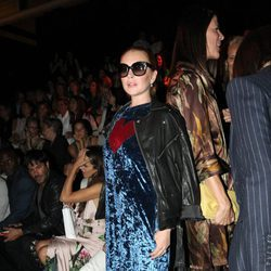 Lindsay Lohan en el desfile de Angel Schlesser en la Madrid Fashion Week 2017