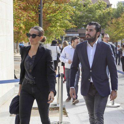 Carola Baleztena y Emiliano Suárez en el homenaje póstumo a Ángel Nieto en Madrid