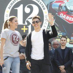 Marc Márquez en el homenaje celebrado a las puertas del Bernabéu en Madrid de Ángel Nieto