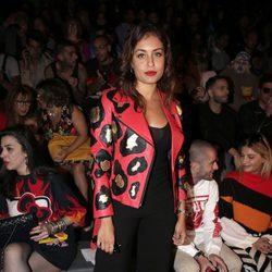 Hiba Abouk en los desfiles de María Escoté y Maya Hansen en la Madrid Fashion Week 2017