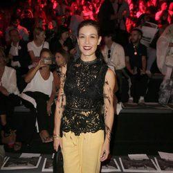 Raquel Sánchez Silva en los desfiles de María Escoté y Maya Hansen en la Madrid Fashion Week 2017
