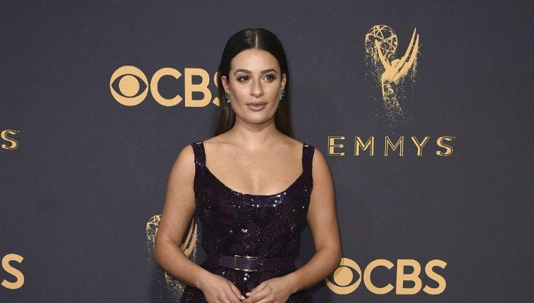 Lea Michele en la alfombra roja de los Premios Emmy 2017
