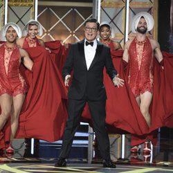 Stephen Colbert durante una de sus actuaciones en los Premios Emmy 2017
