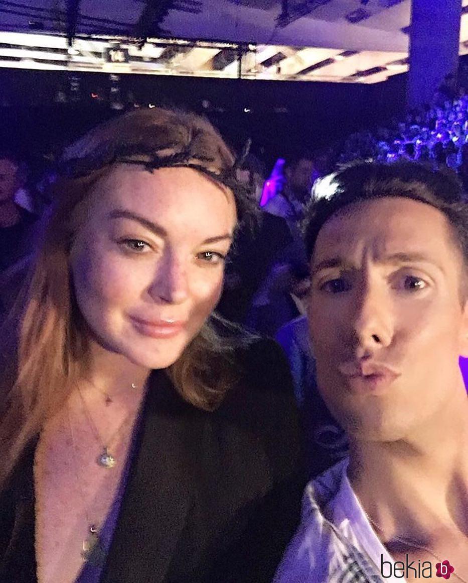Lindsay Lohan y Jesús Reyes en la Fashion Week de Madrid 2017