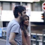 Lara Álvarez y Dani Martínez durante un paseo por Madrid