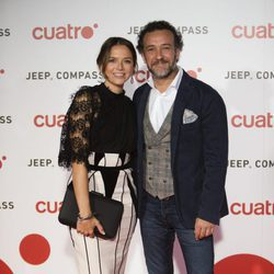 Cristina Alarcón y José Luis García Pérez en la fiesta de Cuatro para presentar la temporada 2017