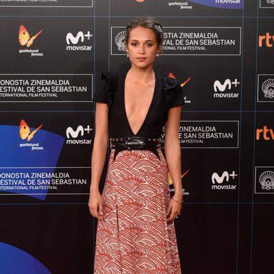 Alicia Vikander en la gala de inauguración del Festival de San Sebastián 2017