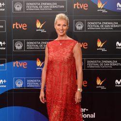 Anne Igartiburu en la gala de inauguración del Festival de San Sebastián 2017