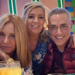 Belén Rodríguez, Carmen Borrego y Kiko Hernández en el Bingo Las Vegas