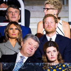 Melania Trump y Harry de Inglaterra en la inauguración de los Juegos Invictus 2017