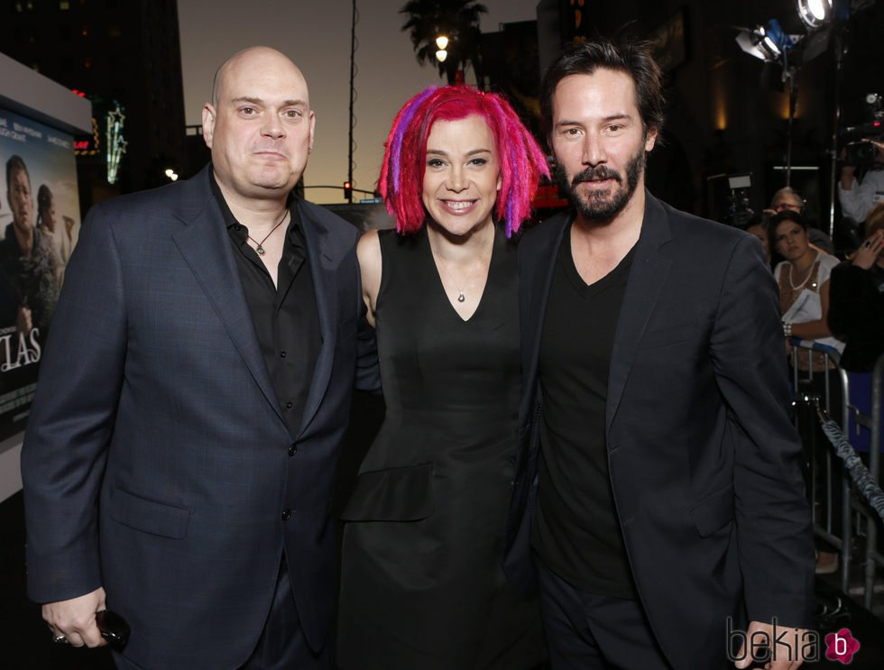 Lana Wachowski y por aquel entonces Andy Wachowski junto con Keanu Reeves