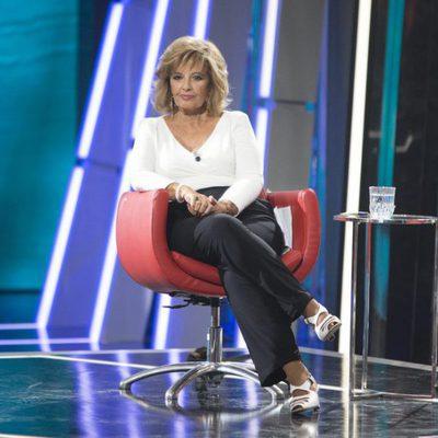 María Teresa Campos en su silla de colaboradora de 'GH Revolution'