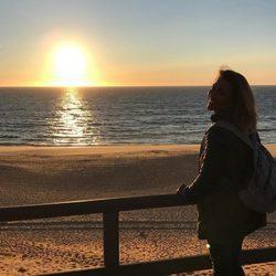 Ngaore Robles disfrutando en Portugal