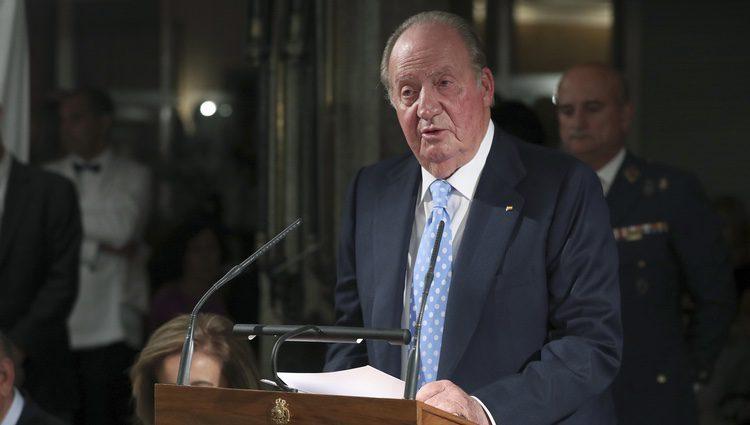 El Rey Juan Carlos da un discurso en la cena por el 40 aniversario del Círculo de Empresarios