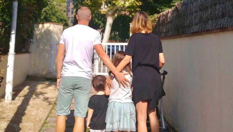 Anna Ortiz y Andrés Iniesta presumiendo de familia