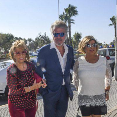 María Teresa Campos, Bigote Arrocet y Terelu en el homenaje a la periodista en Málaga