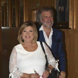 Terelu Campos y Bigote Arrocet en el homenaje a María Teresa Campos en Málaga