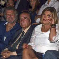 Terelu Campos, Chiquito de la Calzada y Bigote Arrocet en el homenaje a María Teresa Campos en Málaga