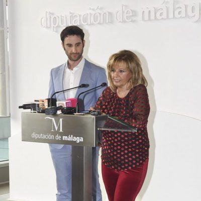 Dani Rovira y María Teresa Campos durante su homenaje en Málaga