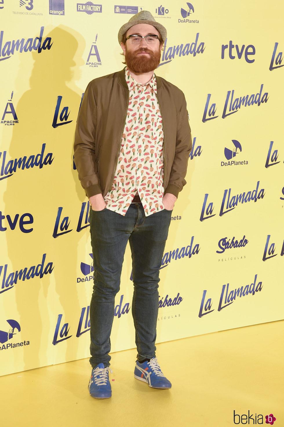 Manuel Burque en el estreno de la película 'La Llamada'