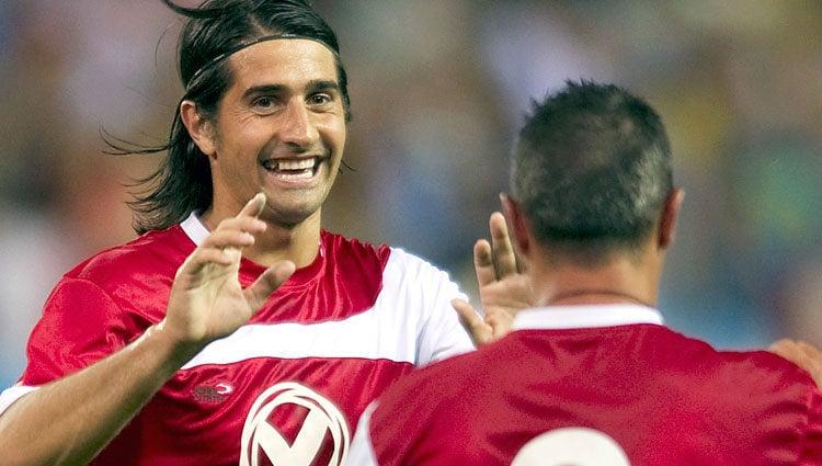 El ex futbolista Ruben de la Red en el partido 'Gracias' en las JMJ