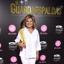Cari Lapique en el estreno del musical 'El Guardaespaldas'