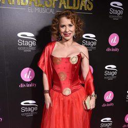Vicky Larraz en el estreno del musical 'El Guardaespaldas'