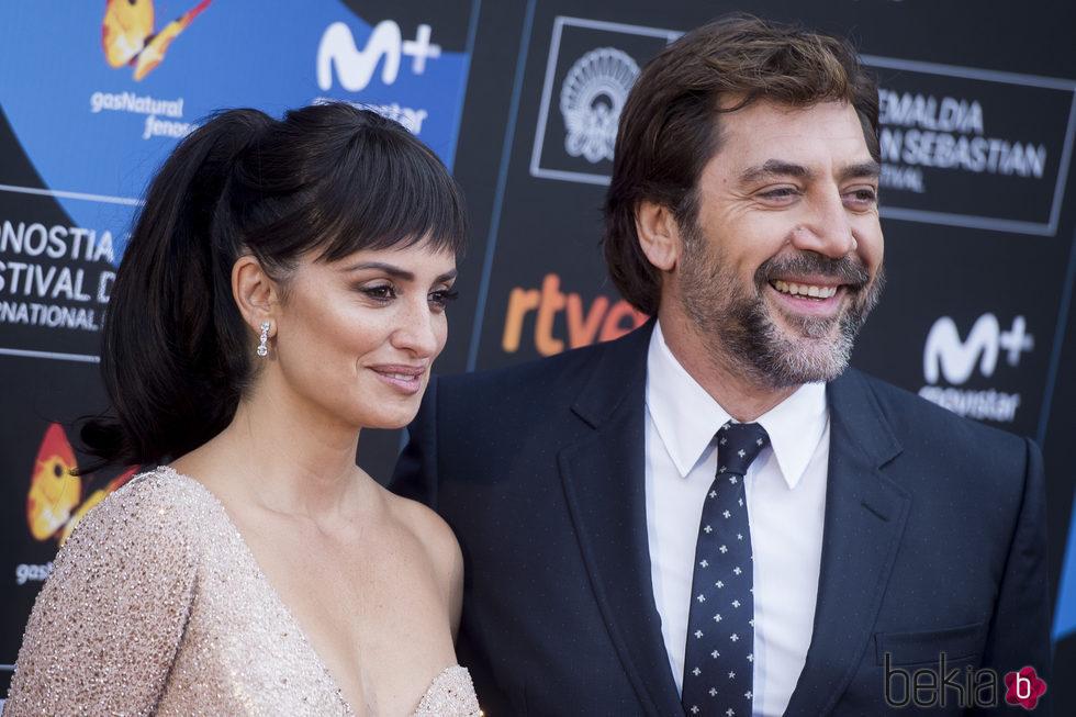 Penélope Cruz y Javier Bardem en el Festival de San Sebastián 2017