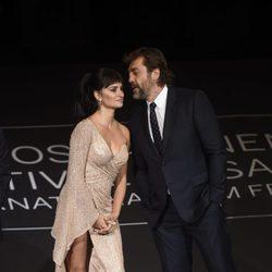 Penélope Cruz y Javier Bardem felices en la clausura del Festival de San Sebastián 2017