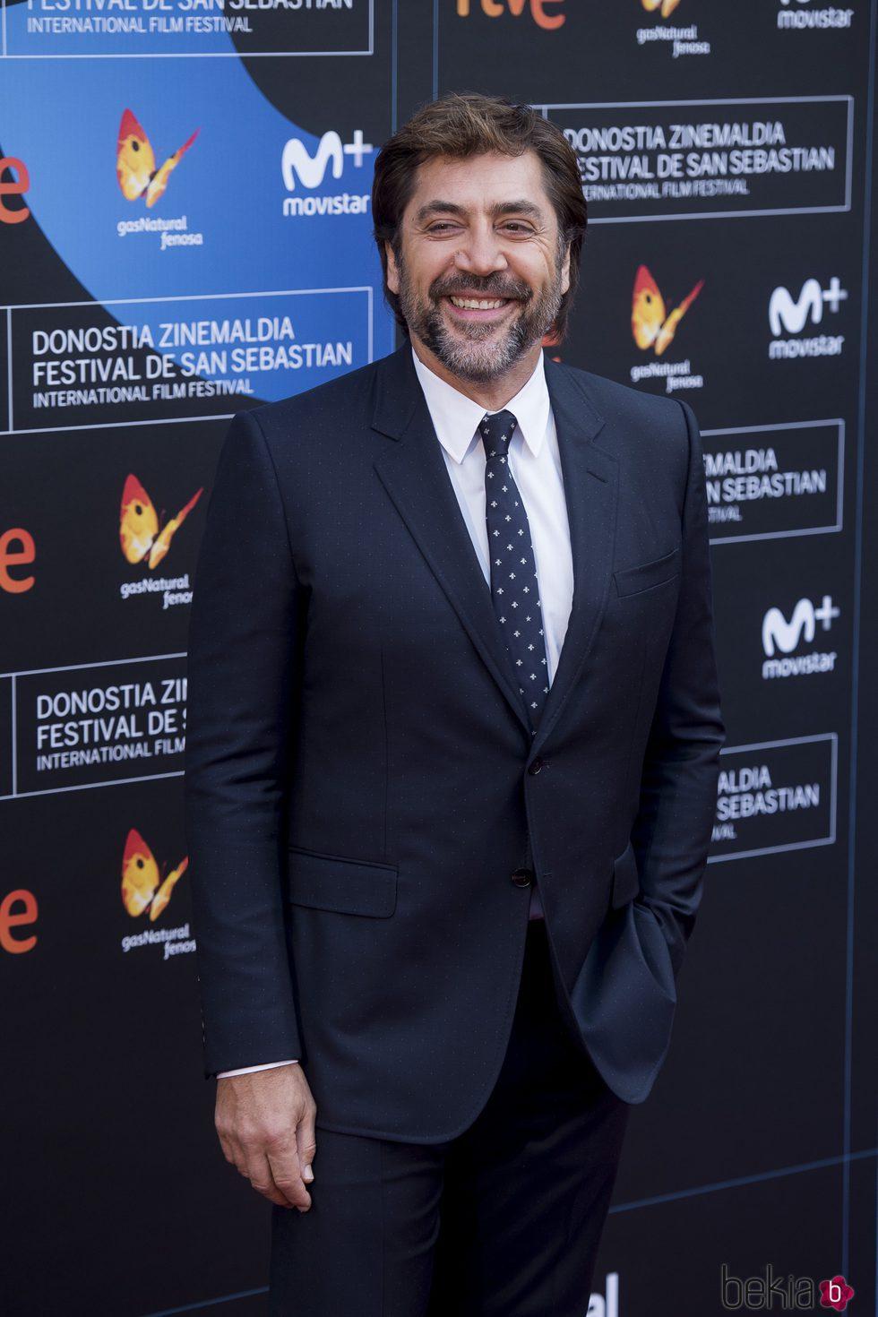 Javier Bardem en la clausura del Festival de San Sebastián 2017