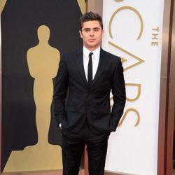 Zac Efron en la gala de Los Oscars en 2014
