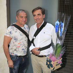 Gustavo González y Antonio Montero acuden al cumpleaños de María Patiño en Madrid